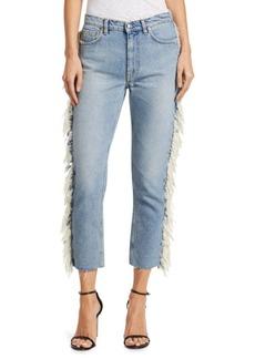 IRO Movement Fringe Hem Crop Jeans