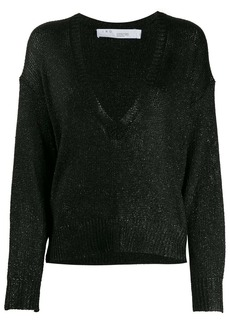 IRO Nanga metallic loose-fit jumper