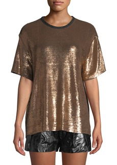 IRO Natesa Sequin Short-Sleeve Tee