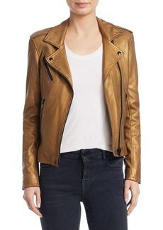 IRO Newhan Cropped Leather Jacket