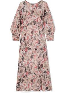 IRO Norma Floral-print Crepon Midi Dress