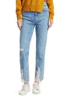 IRO Official Denim Mid-Rise Raw Hem Jeans