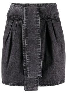 IRO Oleria tie belt skirt