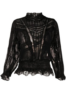 IRO Orrie embroidered blouse