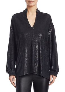 IRO Oversized Sequin Blouse