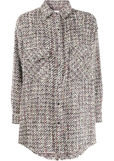 IRO oversized tweed shirt