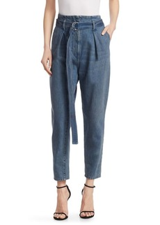 IRO Pablo High-Waist Belted Ankle Jeans