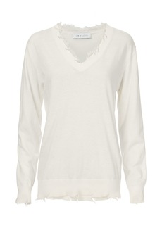 IRO Pao Lace Destroyed Sweater
