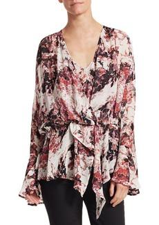 IRO Paradon Bell Sleeve Floral Blouse