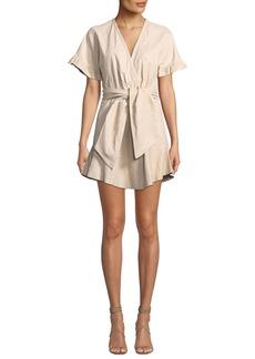IRO Paz Belted Leather Mini Dress