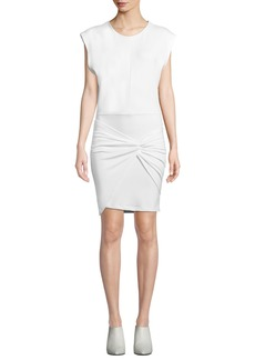 IRO Pearls Sleeveless Twist-Front Short Dress