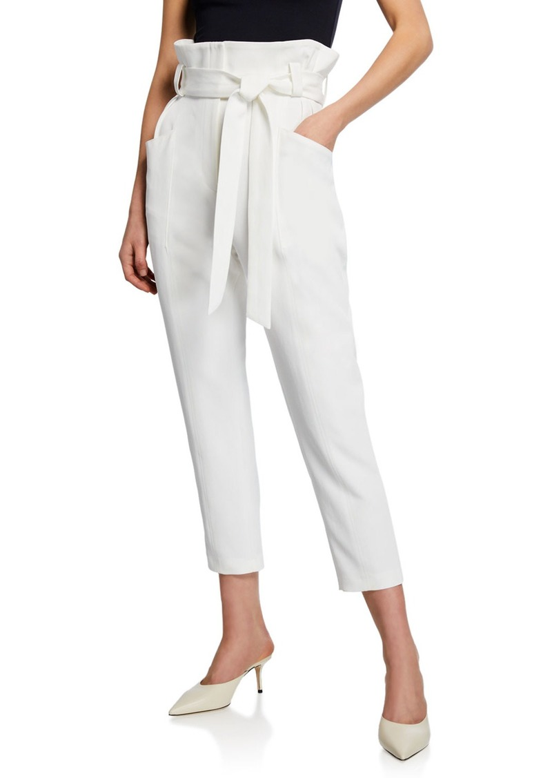 IRO Perplex Belted Paper Bag Cropped Pants
