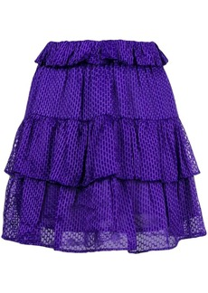 IRO short frilled skirt