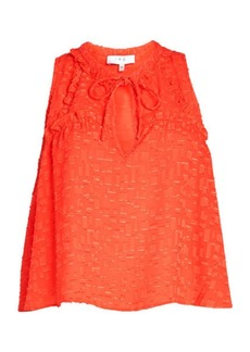 IRO Pleated Ruffle Top