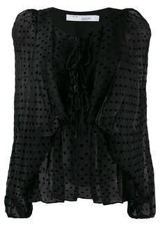 IRO polka-dot print blouse