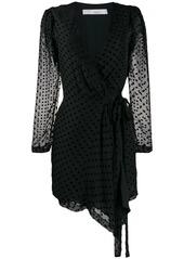 IRO polka dot wrap dress