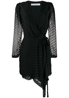 IRO polka dot wrap dress