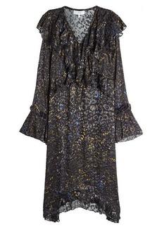 IRO Printed Dress with Ruffles