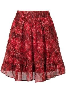 IRO printed ruffle skirt
