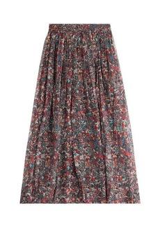 IRO Printed Silk Chiffon Maxi Skirt