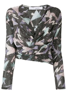 IRO printed wrap top