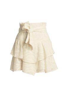 IRO Rakley Ruffle Hem Mini Skirt