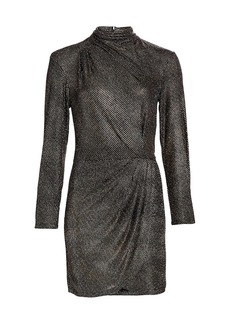 IRO Rasile Turtleneck Metallic Dress