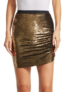 IRO Reward Asymmetric Sequin Mini Skirt