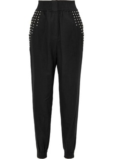 IRO Richly Studded Linen-blend Tapered Pants