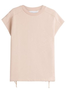 IRO Roldan Cotton Top with Lace-Up Detail
