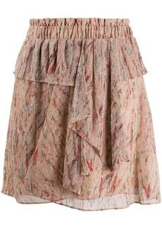 IRO ruched waist mini skirt