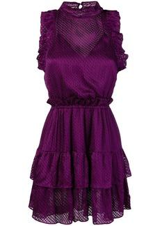 IRO ruffle trim jacquard dress