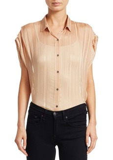 IRO Ruts Sheer Striped Button-Down Shirt