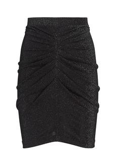 IRO Sargas Ruched Lurex Mini Skirt