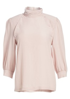 IRO Sense Long-Sleeve Mockneck Blouse