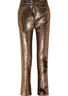 IRO Sequined Crepe Straight-leg Pants