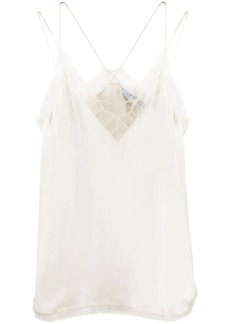 IRO silk fringed cami top