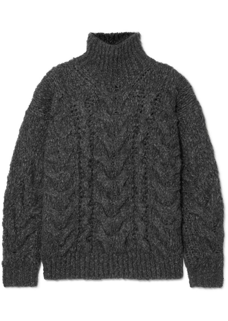 IRO Sirah Oversized Cable-knit Turtleneck Sweater