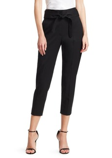IRO Stellary Belted Stretch Wool Cropped Trousers