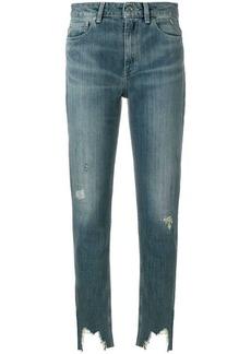 IRO stonewashed distressed hem skinny jeans