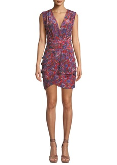 IRO Swing Floral-Print Shirred Sleeveless Dress