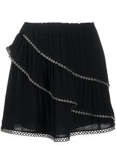 IRO tiered eyelet skirt