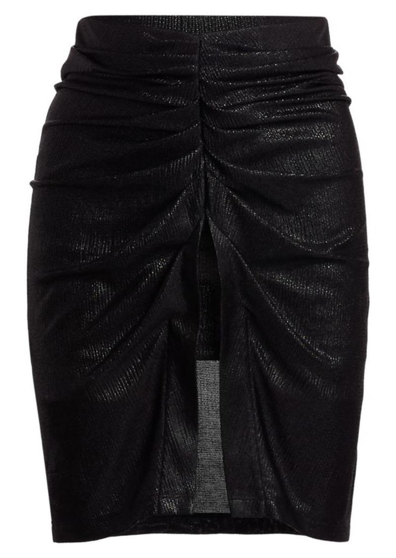 IRO Tirda Metallic Ruched Skirt