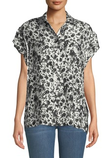 IRO Tour Printed Short-Sleeve Button-Down Shirt