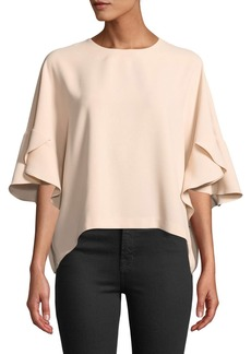 IRO Ultra Draped Flutter-Sleeve Top