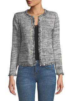 IRO Unplug Open-Front Tweed Jacket