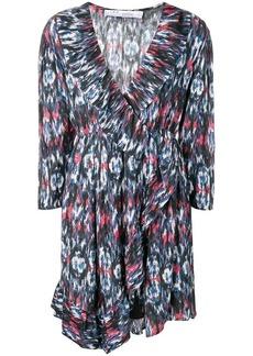 IRO v-neck patterned dress