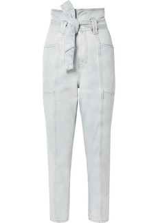 IRO Vieno Belted High-rise Tapered Jeans