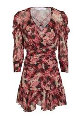 IRO Wick Crepe Floral Mini Dress