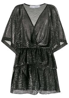 IRO Wide ruffled mini dress